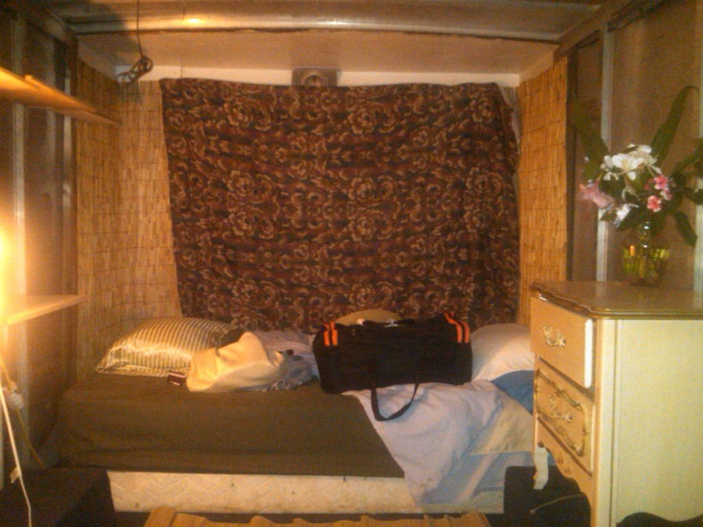 My Bedroom, which really was converted from a Van lol