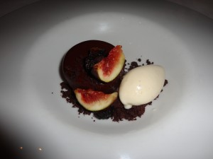 Chocolate Mousse and Figs with ice cream