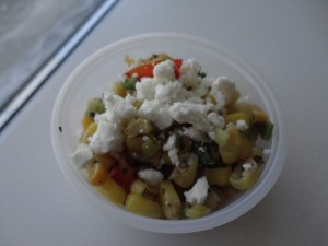 Roasted Corn Salad With Tomatoes & Feta