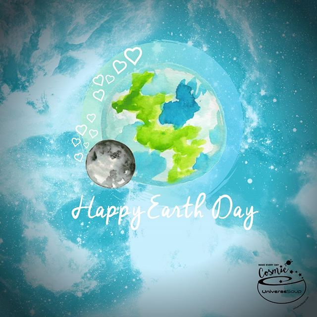 Every day is Earth Day on our beautiful double planet :) #MakeEveryDayCosmic #UniverseSoup #EarthDay #EarthDay2019 #EarthDayEveryDay #HappyEarthDay
