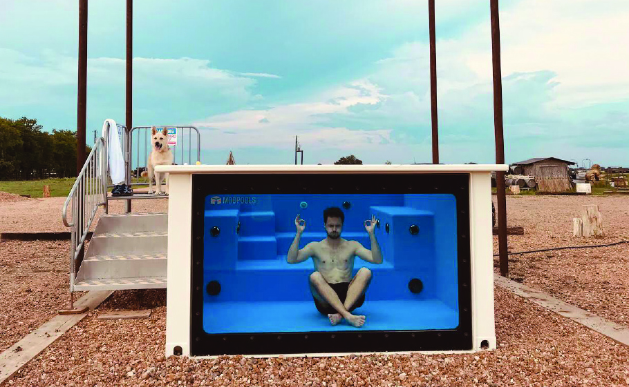 Flophouze opened its newest addition - the modpool container swimming pool. Photo by Maria Aguirre