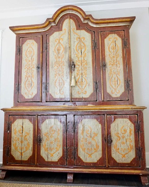 Late 18th Century Tyrolean Tall Cabinet. Photo courtesy of Hastenings Design Studio