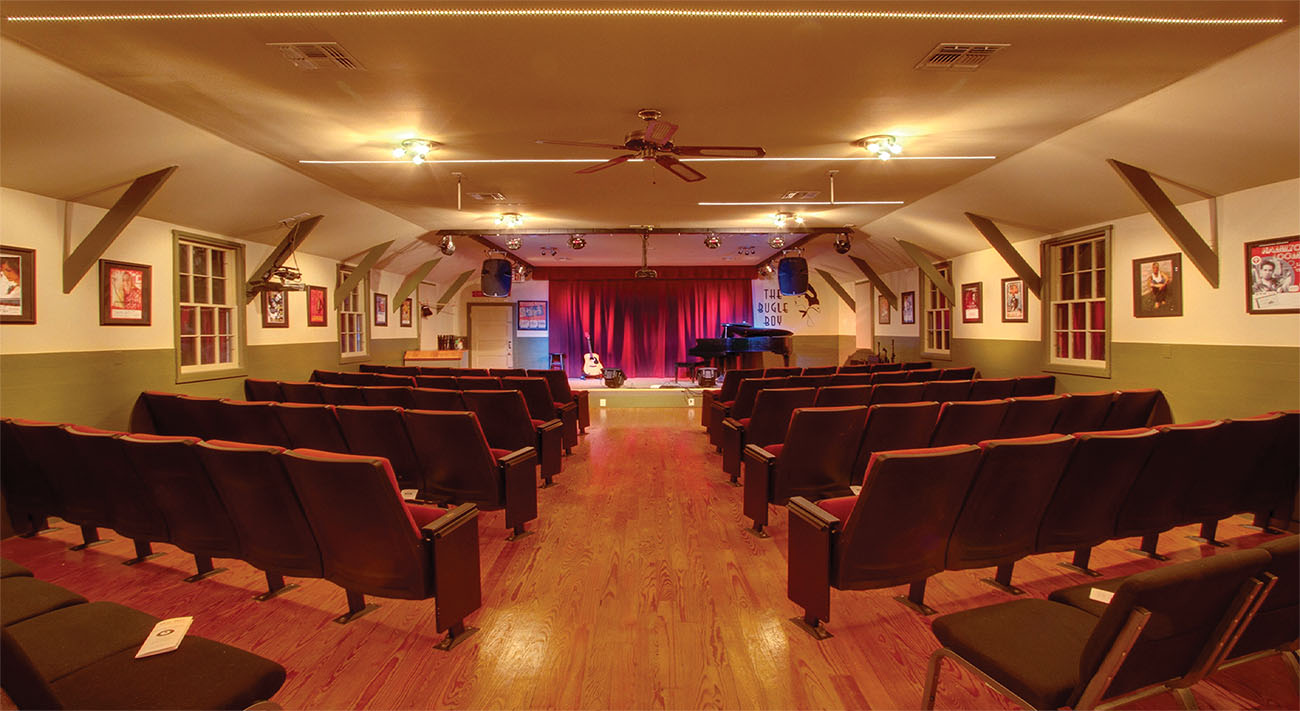 The Listening Room at The Bugle Boy where concerts are held on Friday & Saturday evenings.