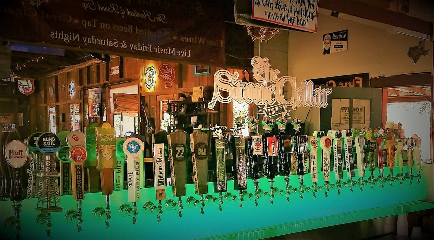 The Stone Cellar features 25 craft beers on tap.