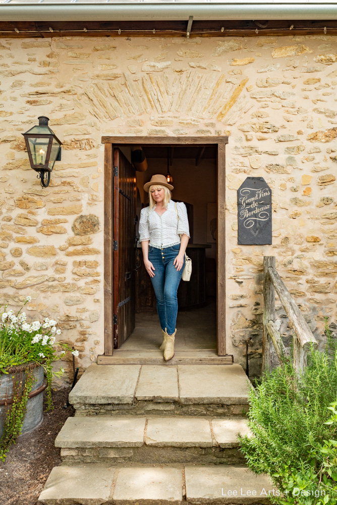 Nicole shops by Prost, a tiny wine bar in a stone cottage.  Photo by Ashlee Nobel, Lee Lee Arts + Design