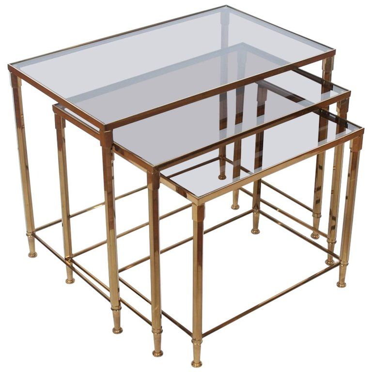 Brass nesting tables  Photo by Architectural Anarchy