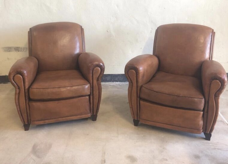 Photo by Nomadic Trading Company  Pair of French club chairs from 1960s