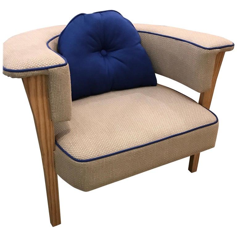 "Custom mid-century modern ""Viking"" armchair"