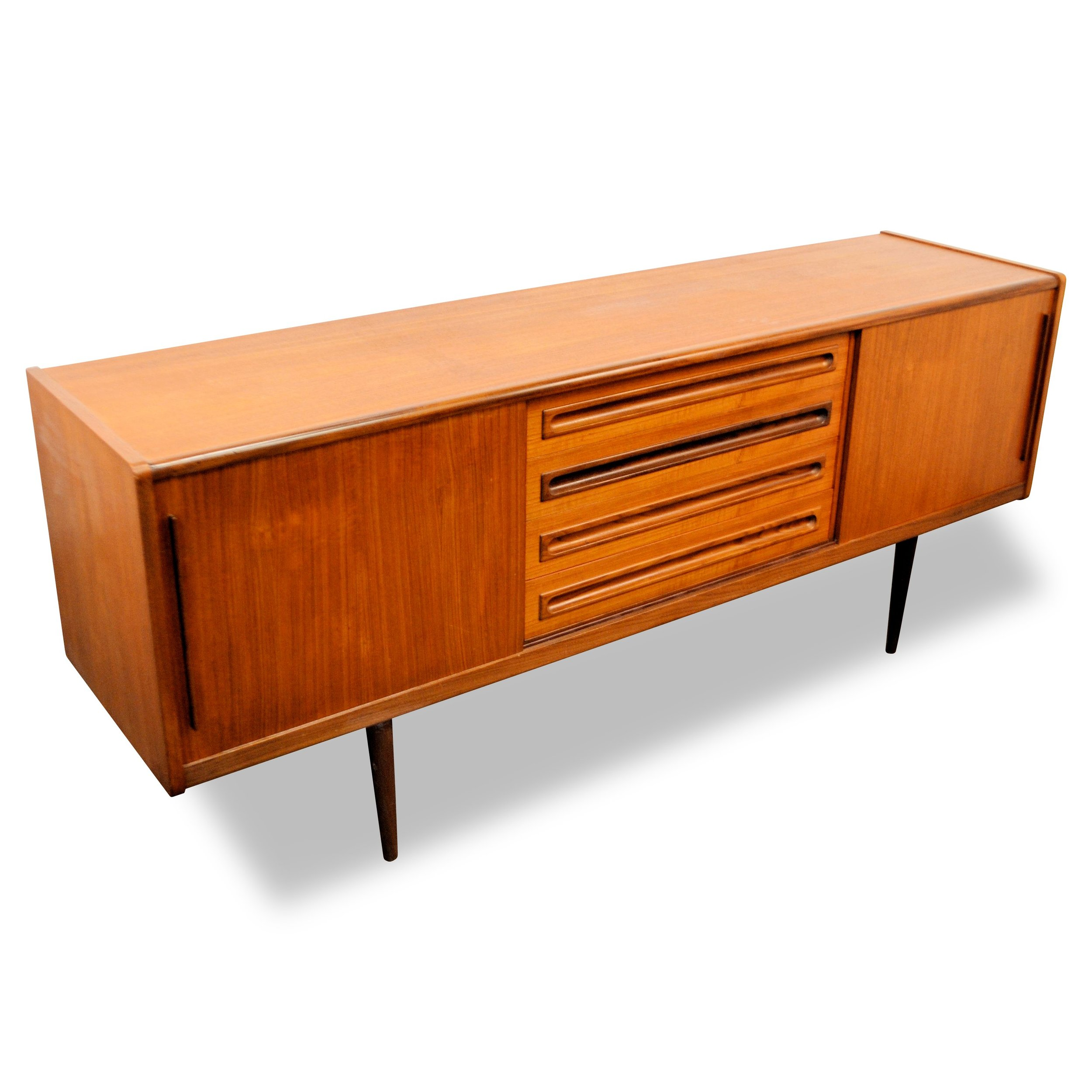 Danish Modern Teak Credenza by Johannes Andersen  Photos courtesy of Gallery Auctions