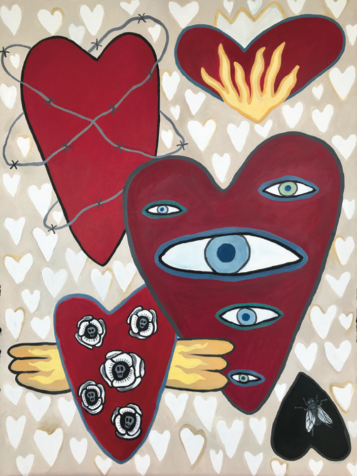 "Photo courtesy of Melissa Ellis Fine Art  ""Queen of Hearts"" 22x30 acrylic on paper"