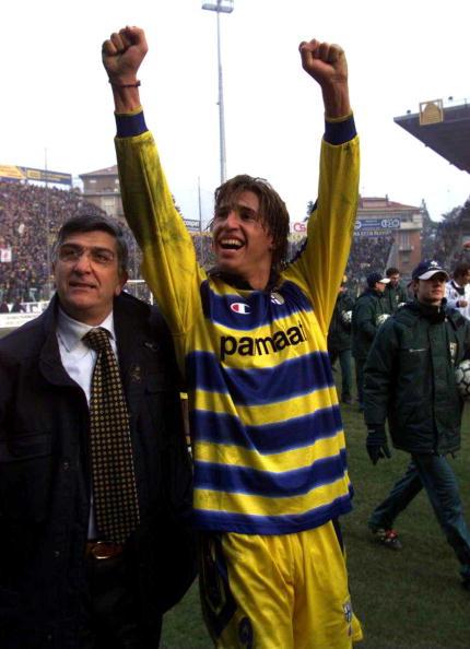 Fra storhedstiden i 2000 med Hernan Crespo i jubel. Foto: Getty Images/Grazia Neri.