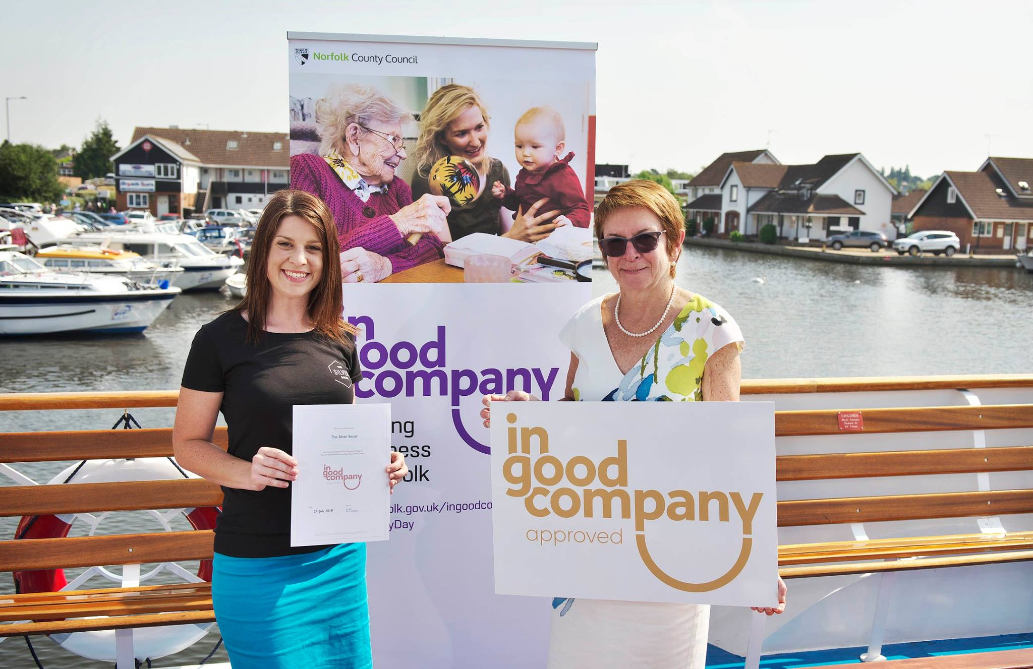 Dr. Wendy Thompson, Managing Director of Norfolk County Council presenting the In Good Company Quality Mark Award