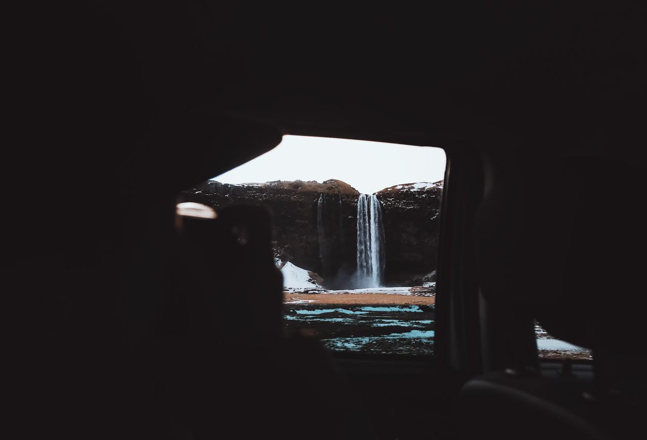 @dpc_photography_ Shooting Seljalandsfoss from the Car Window