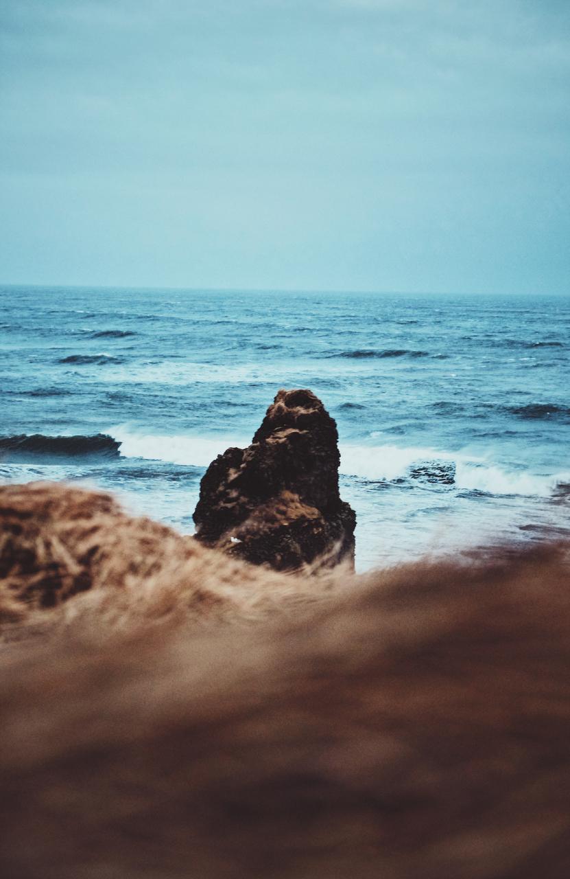 Sea Stack at Kirkjufjara beach