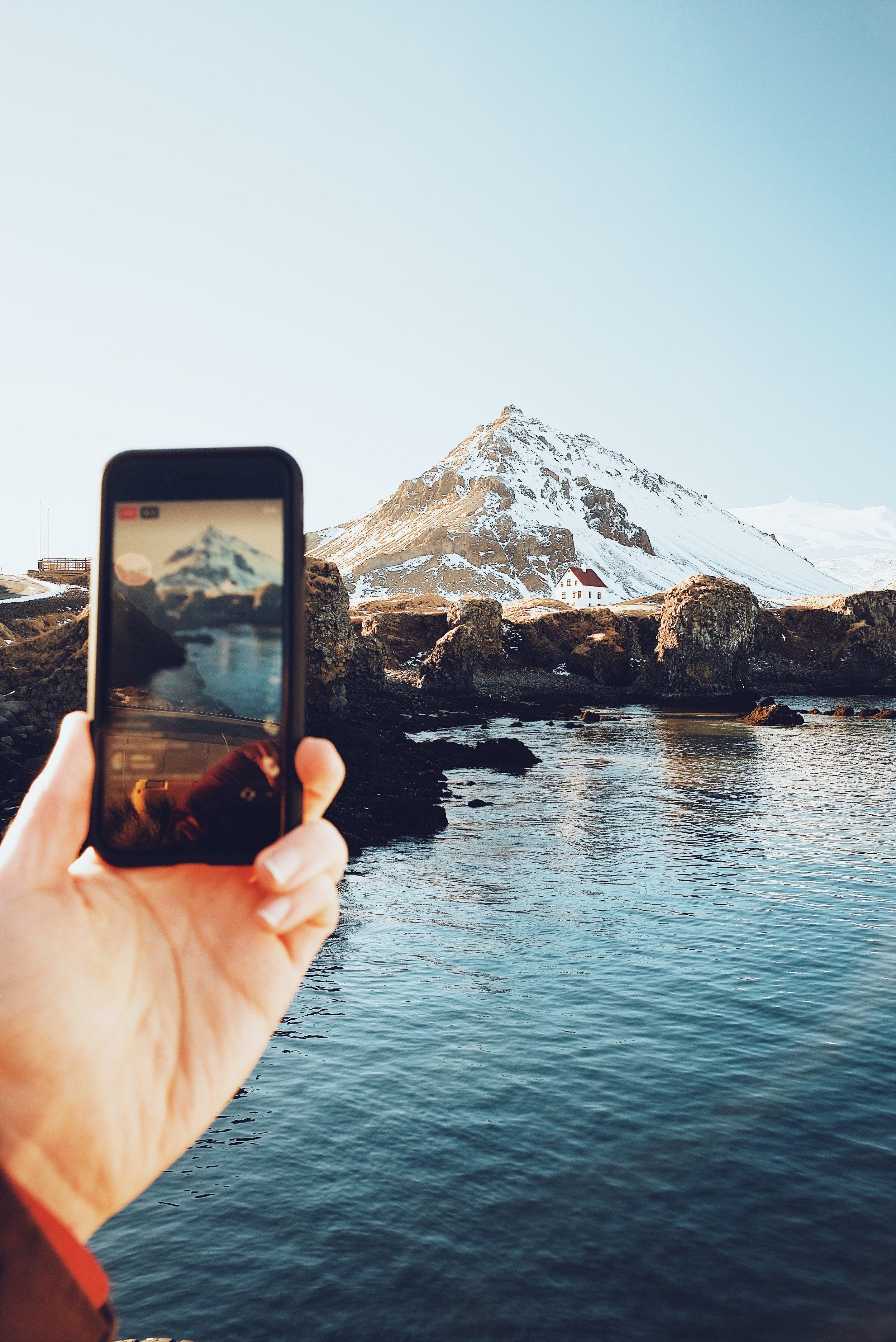 Instagram Live at Arnarstapi