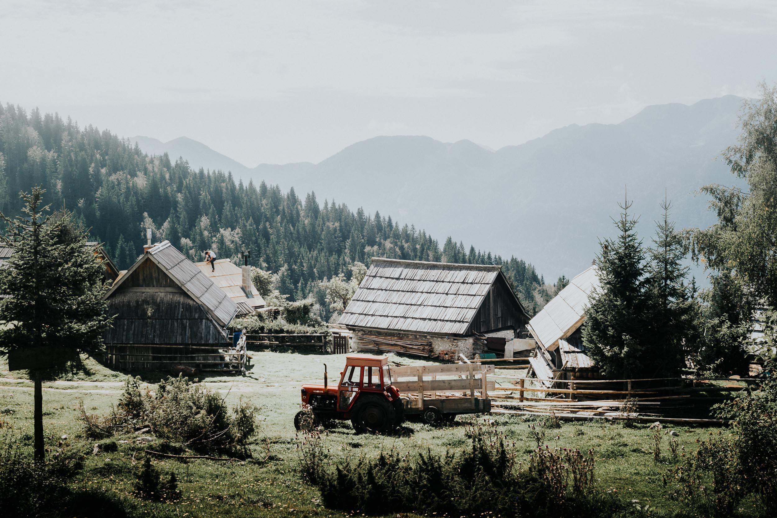 First View of Planina Zajamniki