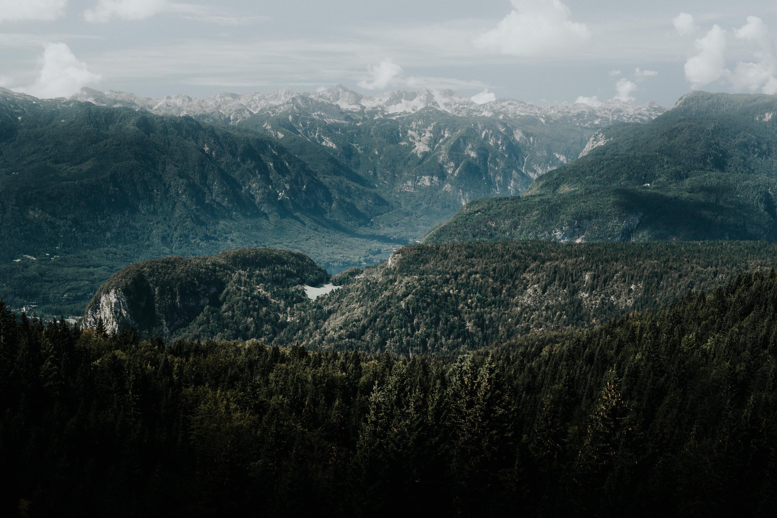 The View Towards Bohinj from Planina Zajamniki
