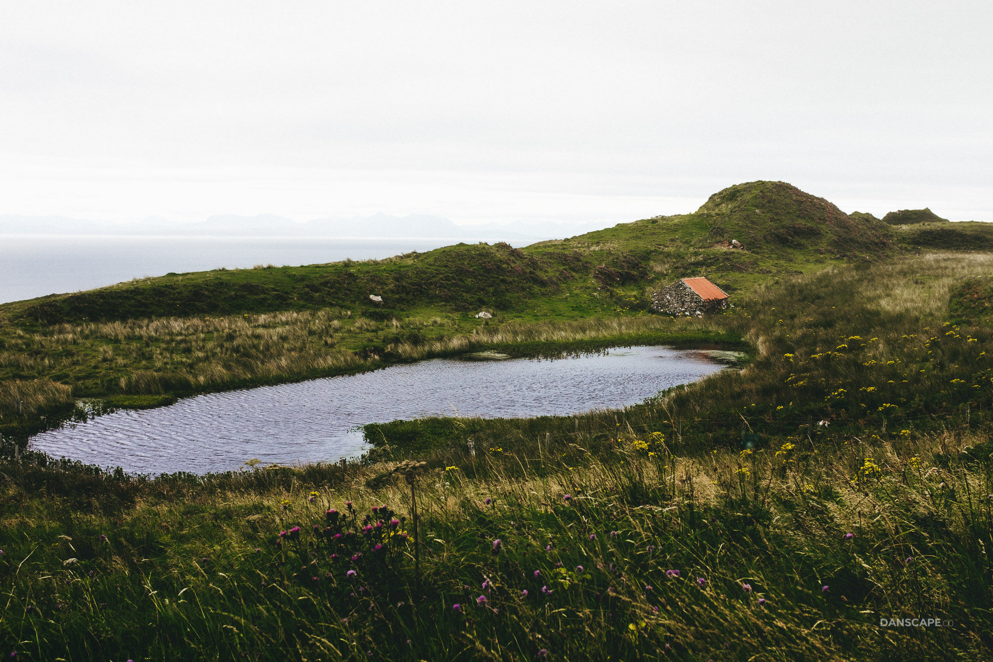 Tiny Lochan and Shepherds Hut Near The Road