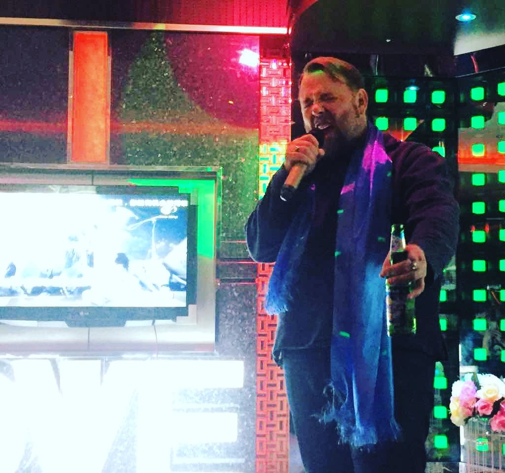 """""""Whoa-OH! LIV-in on a preh-ER!"""" KTV with the squad, as you do. Jan 2017, Beijing China"""