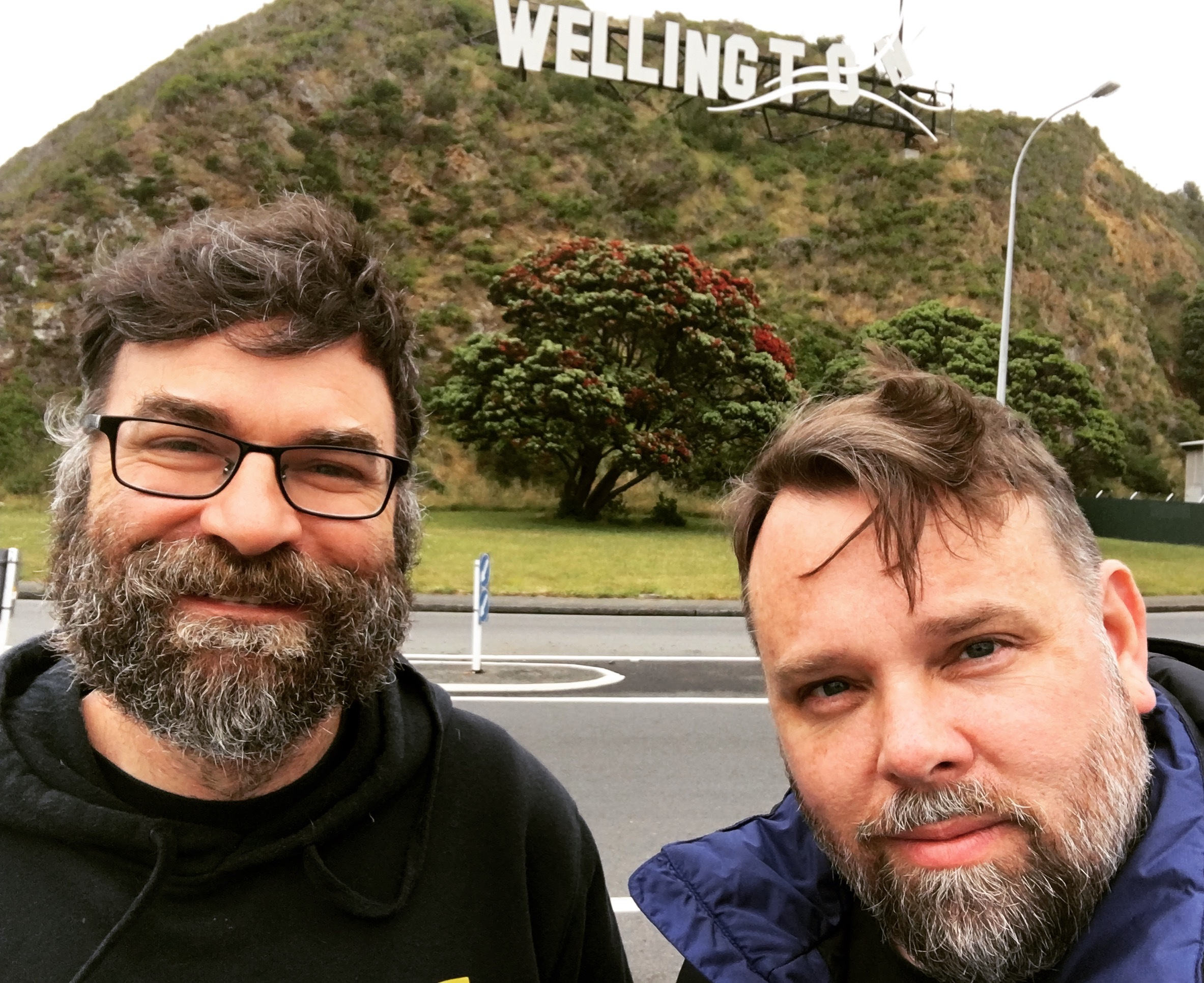 With Steve Barr in Wellington (I think).  Jan 2, 2017.