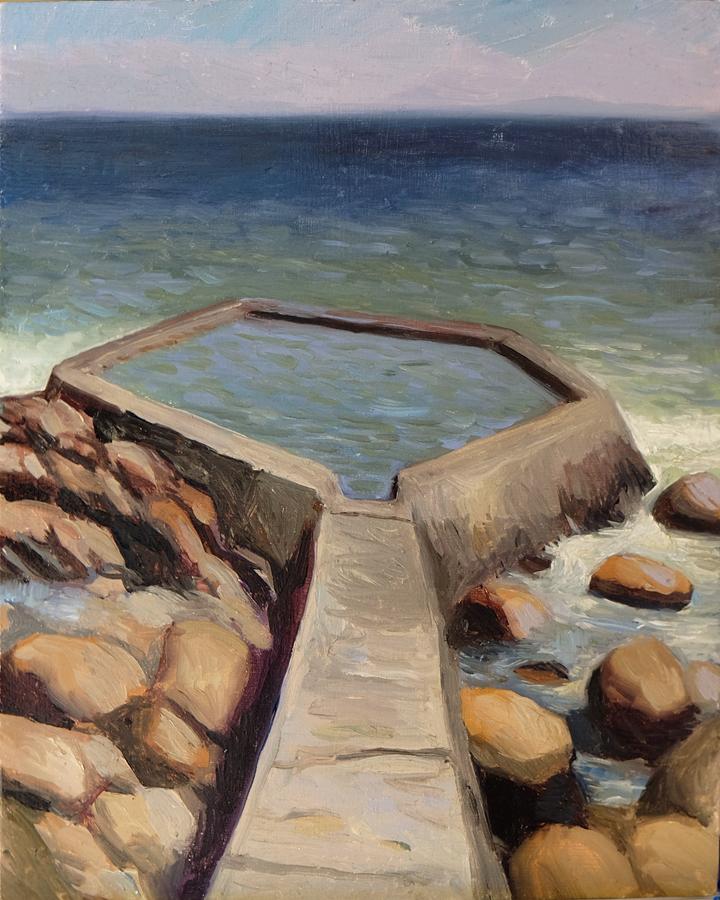Nun's Pool, Gordon's Bay  Oil on panel 20x25cm