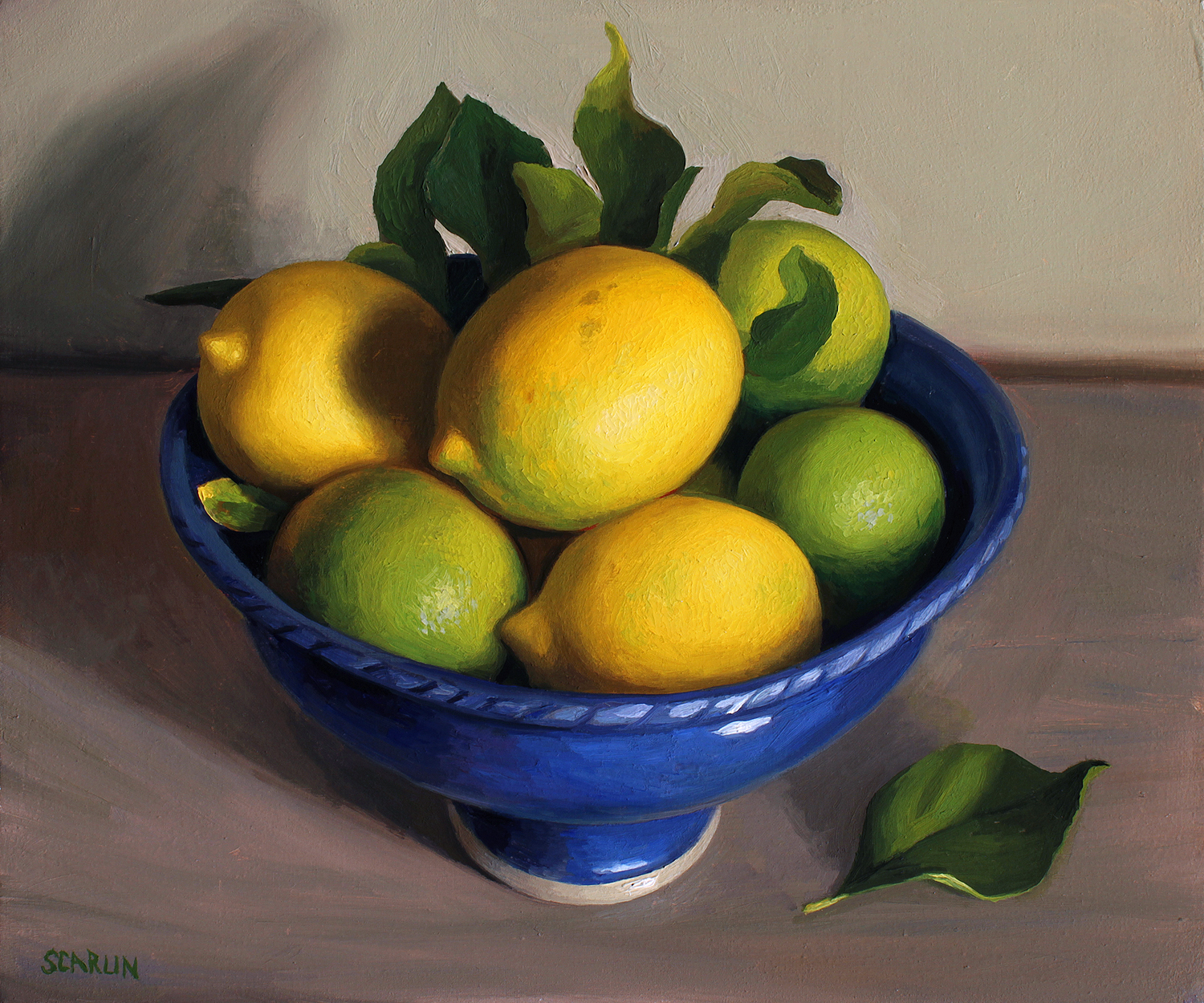 Lemons in a bowl   Oil on panel   30x35cm    2017    Private collection
