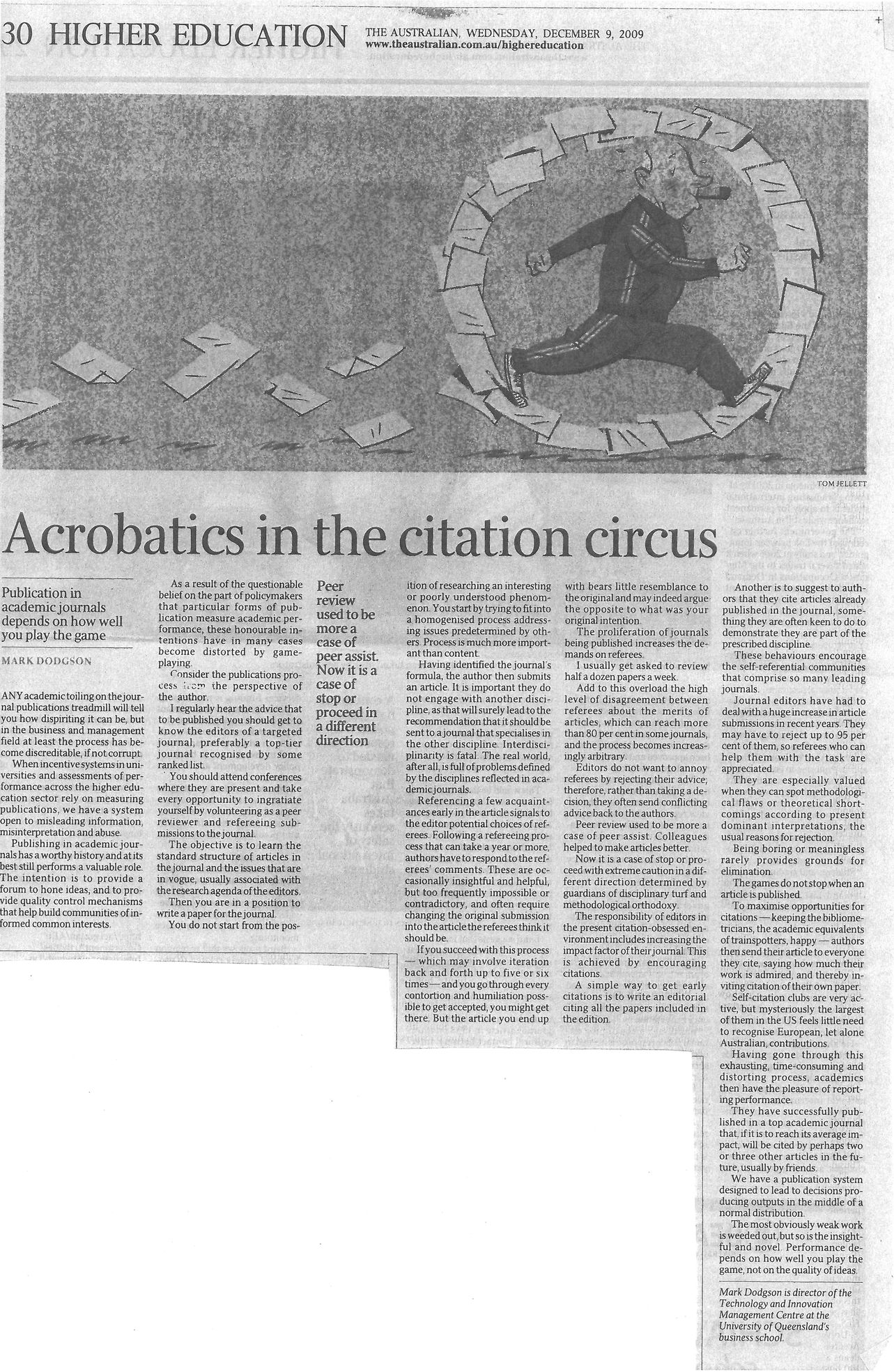 """Acrobatics in the citation circus"" – on the games played with journal citations. 09/12/2009"