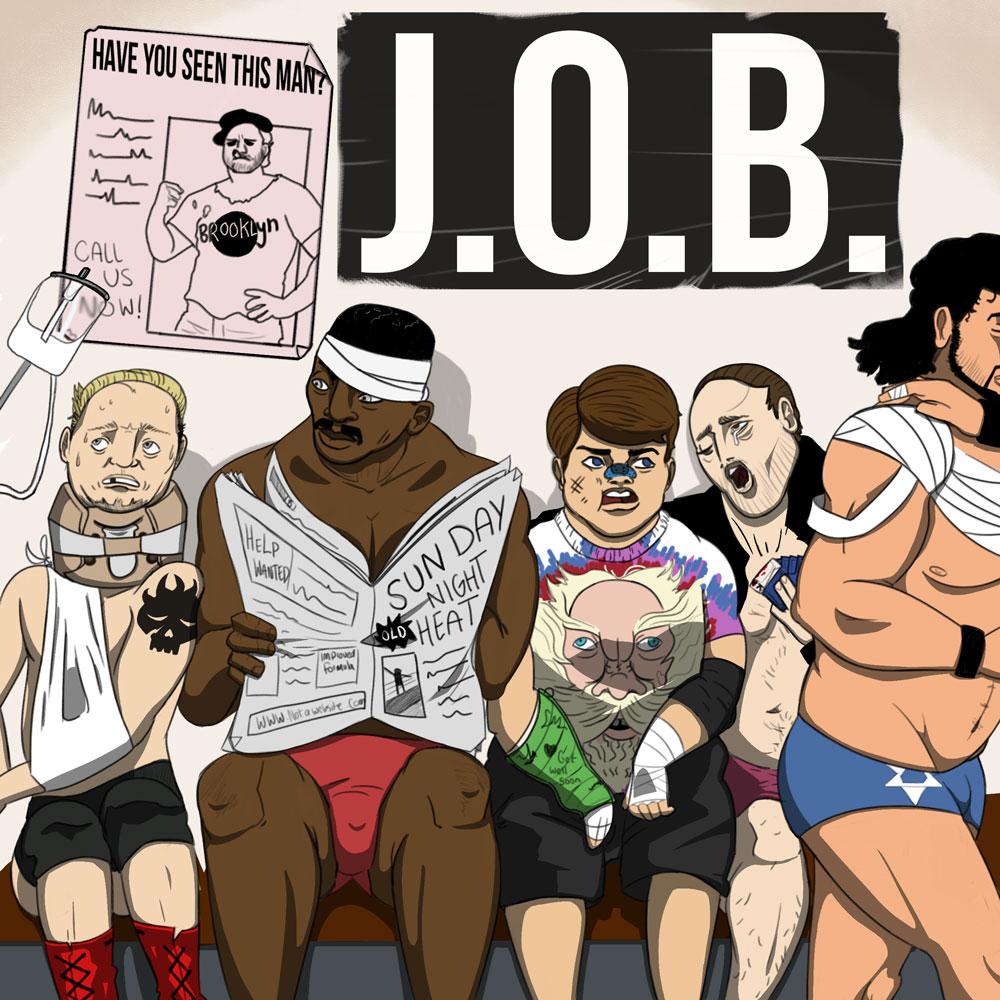 Jobbers pro wrestlers James Ellsworth Mikey Whipwreck Brooklyn Brawler Steve Lombardi S D Jones Barry Horowitz Job Squad