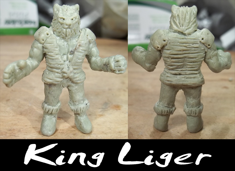 Original King Liger mode made in Casteline wax. Roughly 1.5 inches.