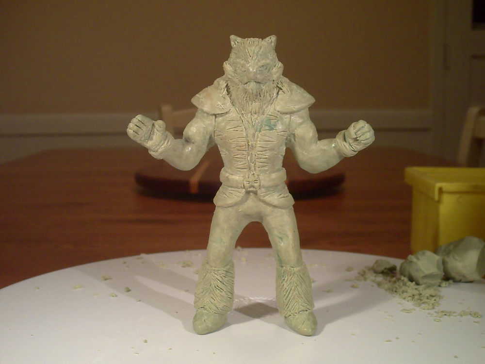 King Liger's first 5.5 inch model made in Casteline wax.