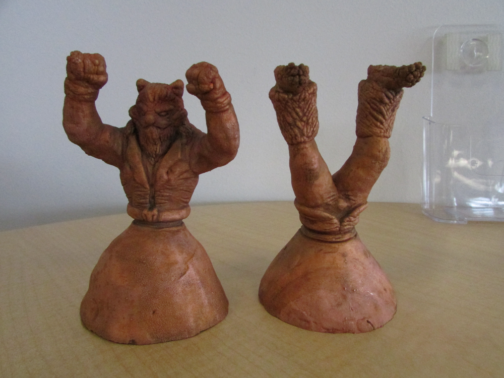 My original copper mold cavities that I made for the tooling.