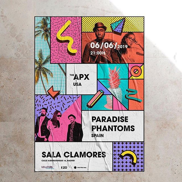 MADRID Funkateers! 🙌🏾🙌🏾 If you like to move your ass with a brass 🎹🎹, then you are lucky, since the funktastic @theapxmusic are hitting the town! 🤩🤩we, @paradisephantoms are opening the ceremony...both bands under the umbrella of @thesleepersrecordz 📀📀next 6/6/19, are you coming to commune?😎😎 —-  tickets LINK IN THE BIO ☑☑ #modernfunk #electrofunk #party #breakdance #poppin #lockin #synthwave #80s #groove #stayfunky