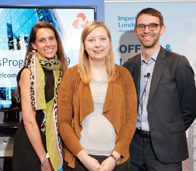 Imperial alumna Niki Göransson (centre) received second prize