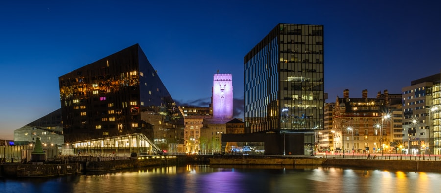 Across Canning Dock Liverpool Blue Hour