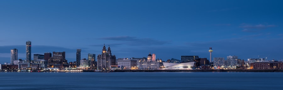 Liverpool Pier Head Blue Hour