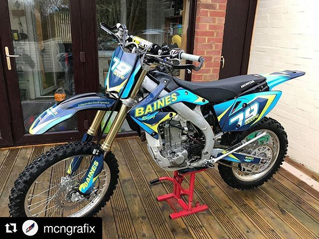 #Repost @mcngrafix (@get_repost) ・・・ Awesome looking crf250 custom one off graphics for @baines_racing • • •  @BainesRacing has taken on an Enduro adventure. Our rider Bryan has worked with @mcngrafix to create some really awesome custom livery for his race bike. Not only does it look incredible it's in keeping with a design ethos we're implementing across the whole Baines Racing brand. We look forward to Bryan representing us through out his enduro racing journey!  #bainesracing #pedalsandpistons #custom #bikes #enduro #honda #crf450x #adventure #wymtm #outsideisfree #fromwhereiride