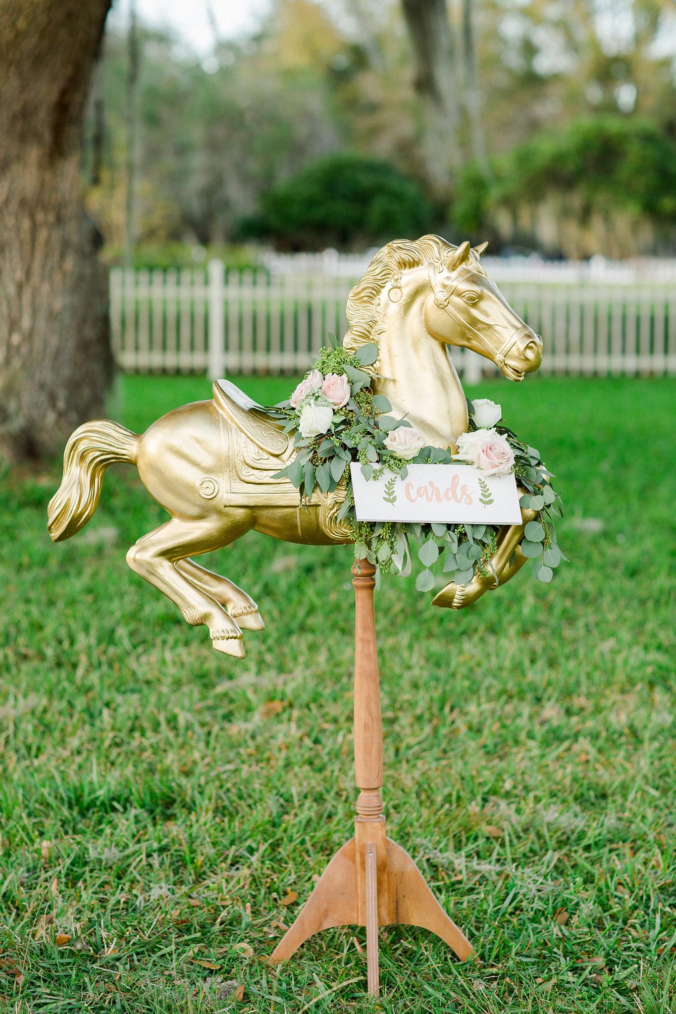 Horse Wedding Card Holder
