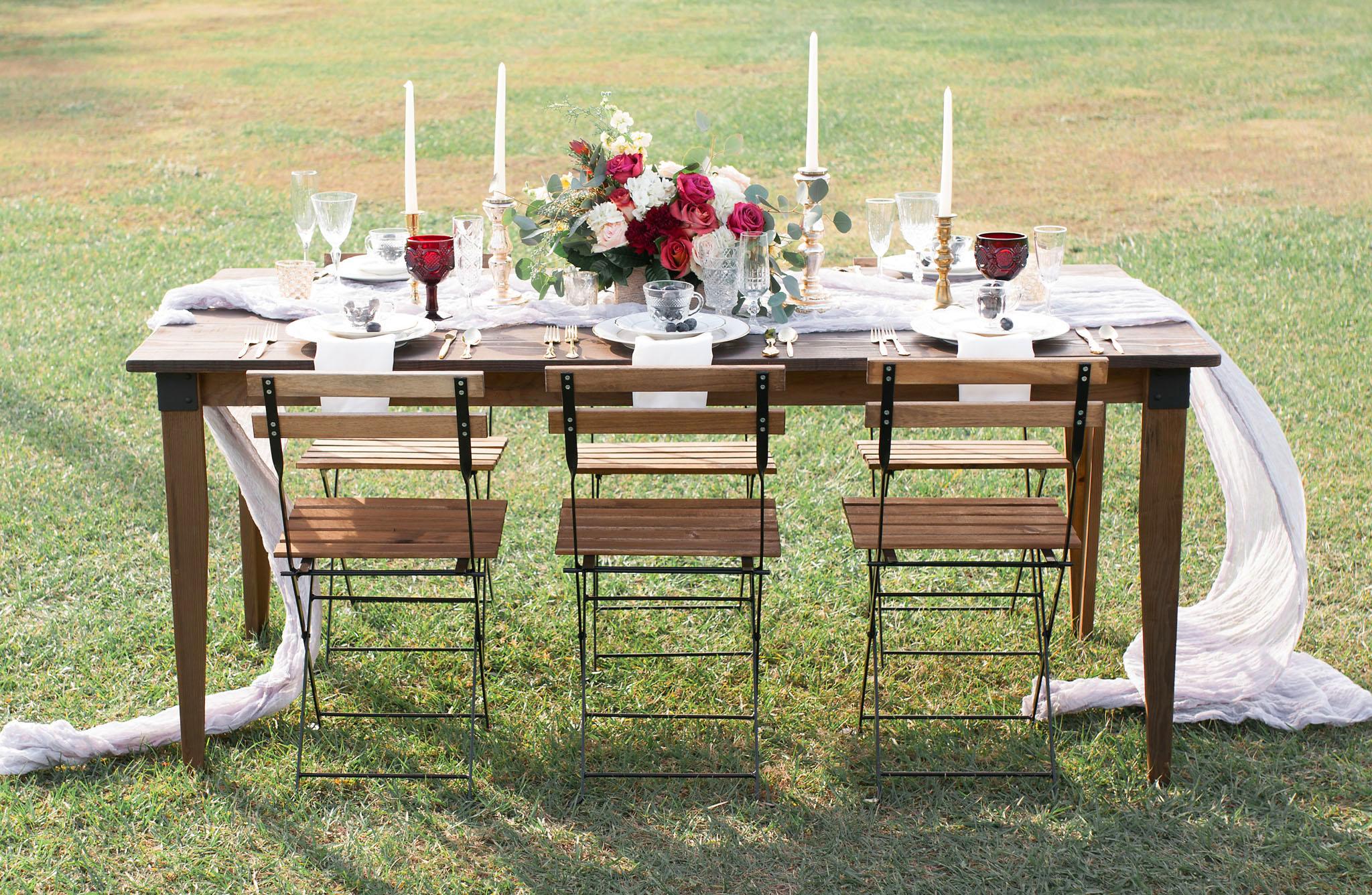 Orlando Tampa Lakeland Farm Table Rentals