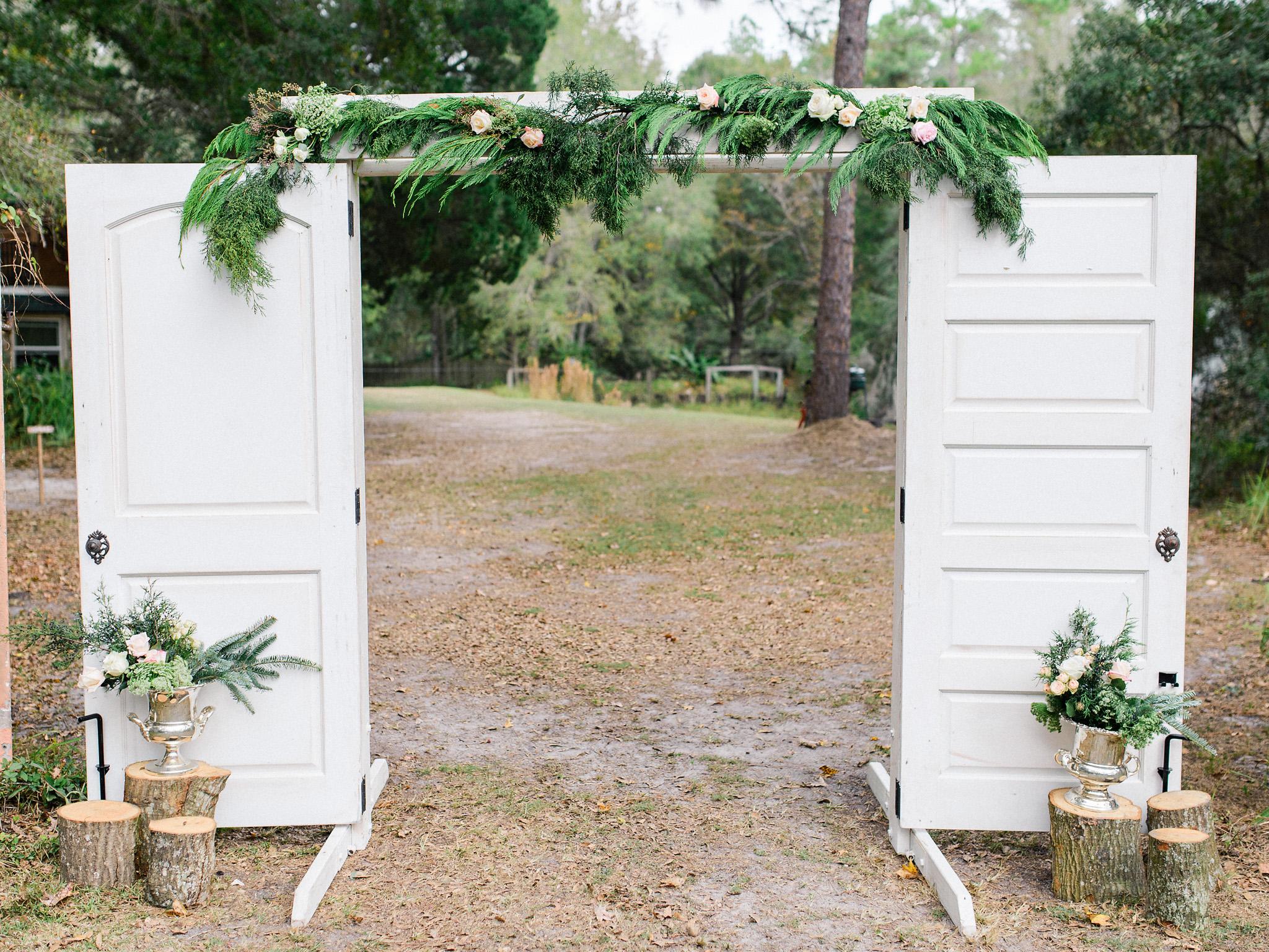 Wedding White Door Ceremony