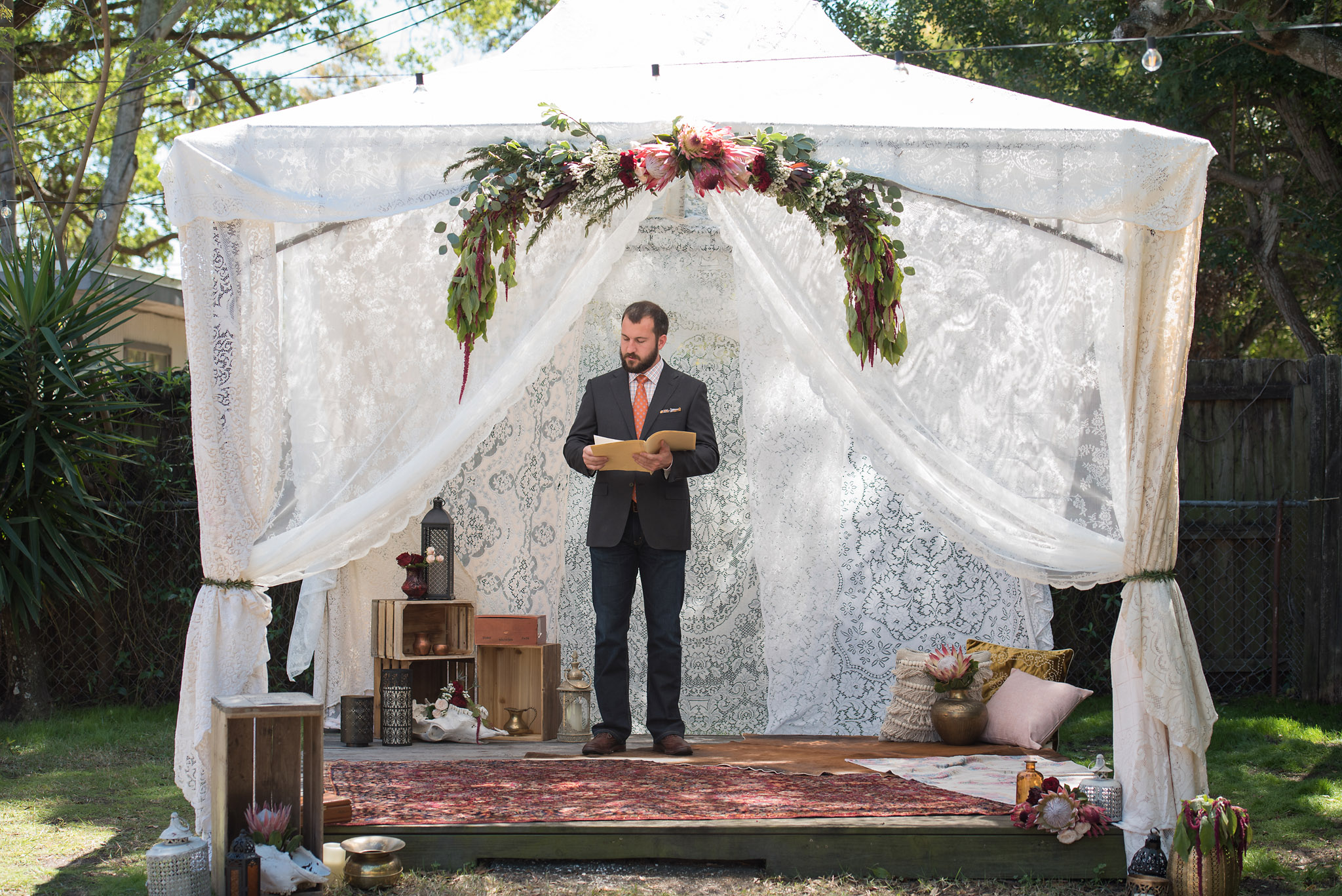 Boho Ceremony Tent