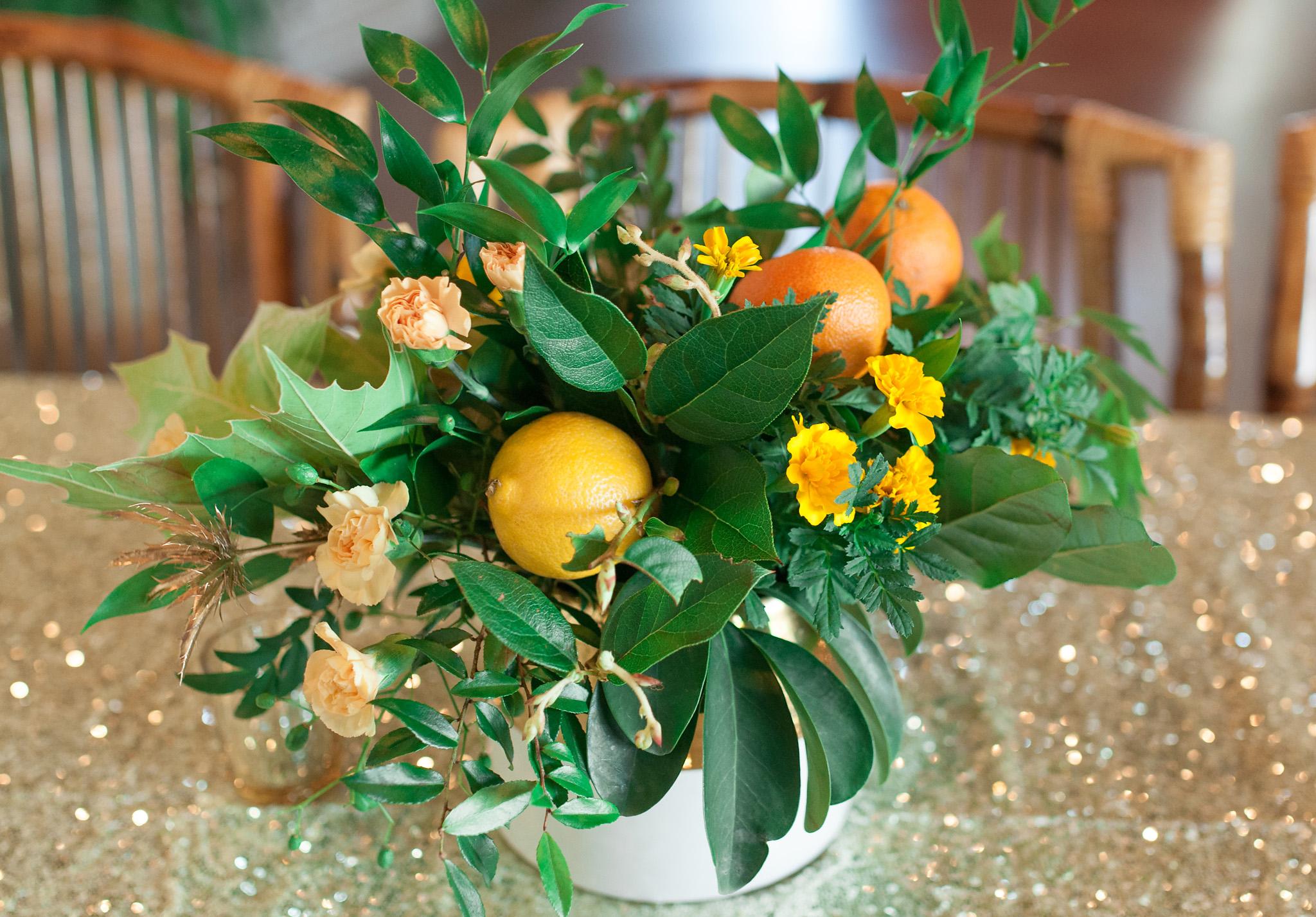 Citrus Floral Centerpiece