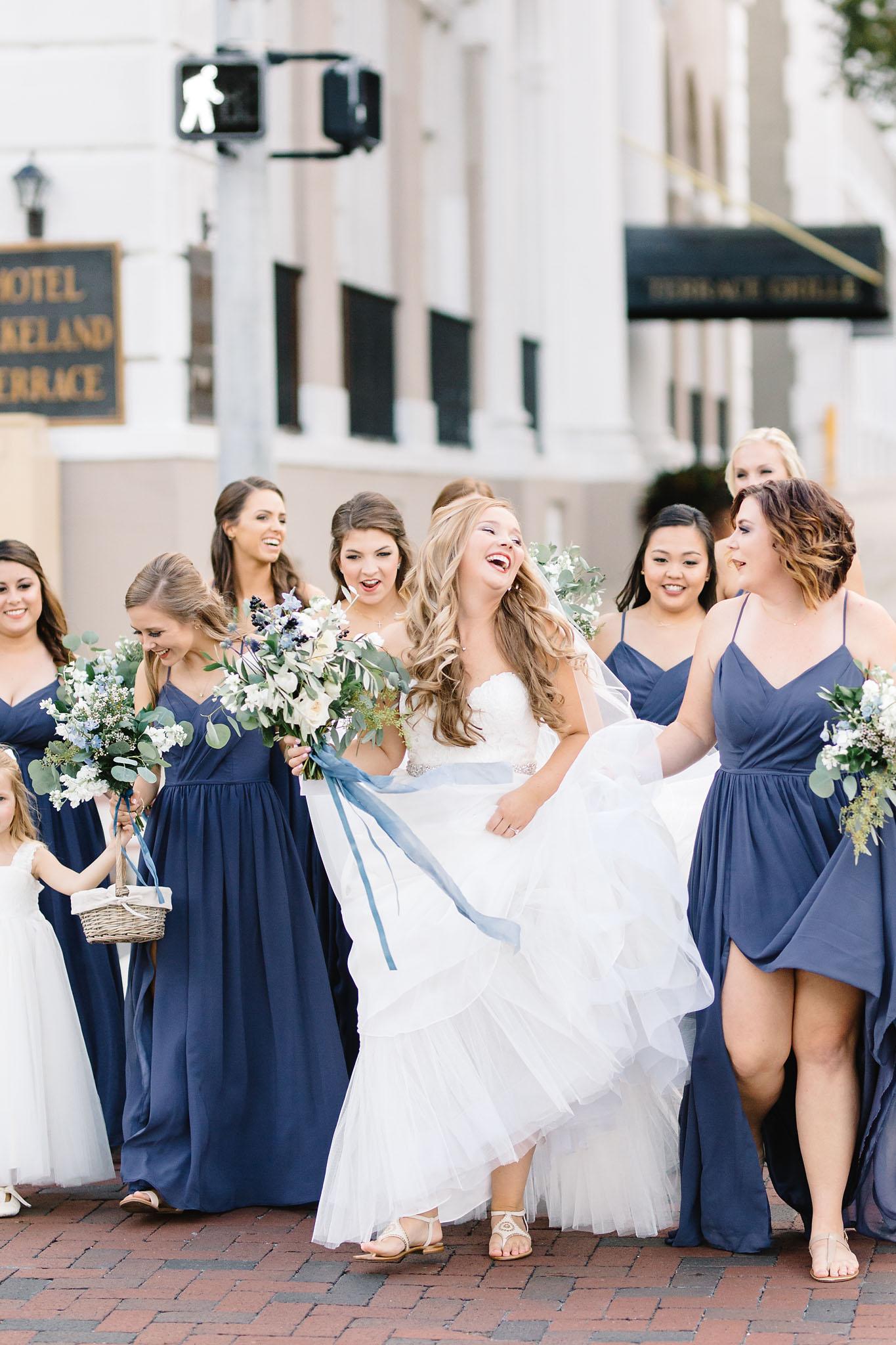 Slate Blue and Cotton Wedding