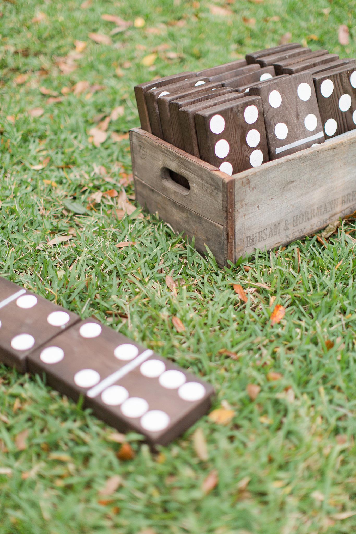 Wedding giant dominoes
