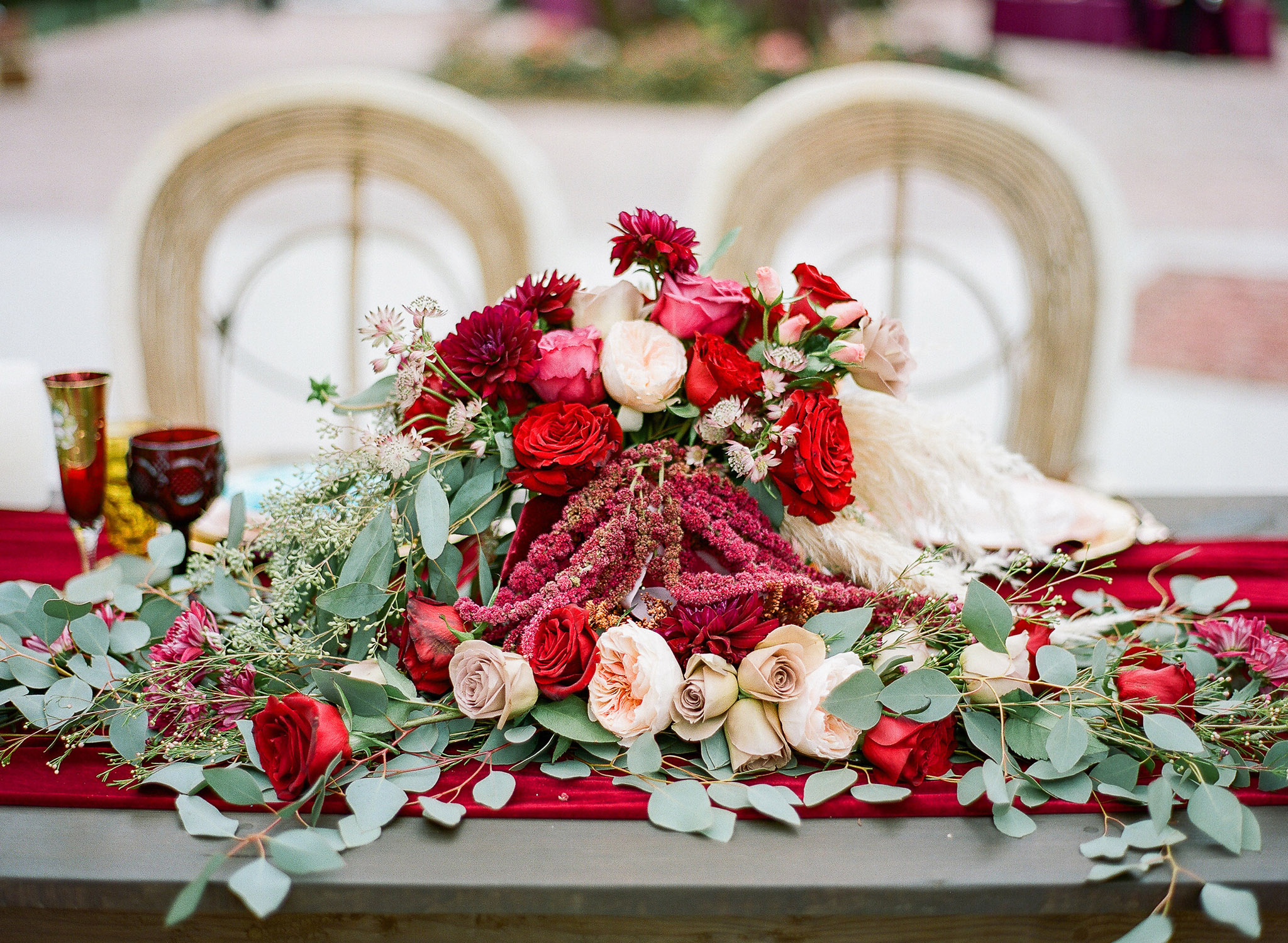 Burgundy Boho Wedding