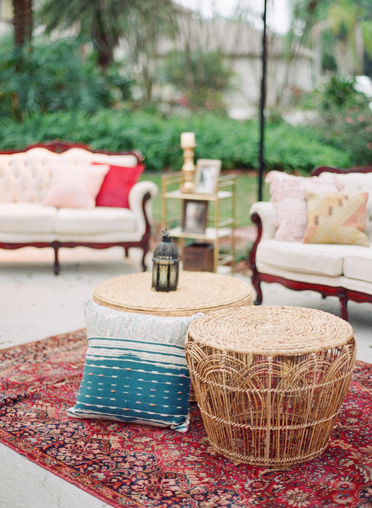 Boho Lounge Area