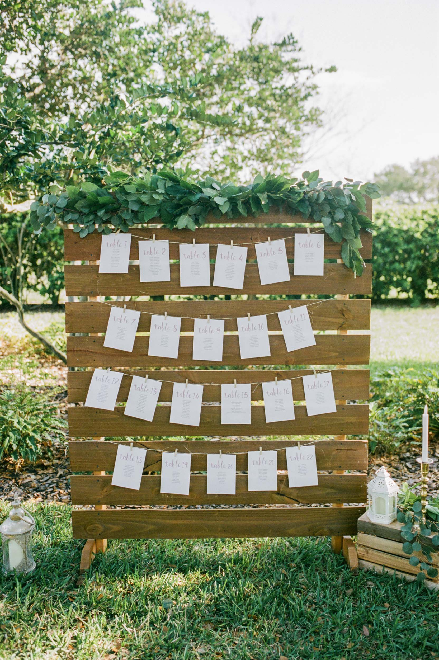 Wood Wall Seating Chart
