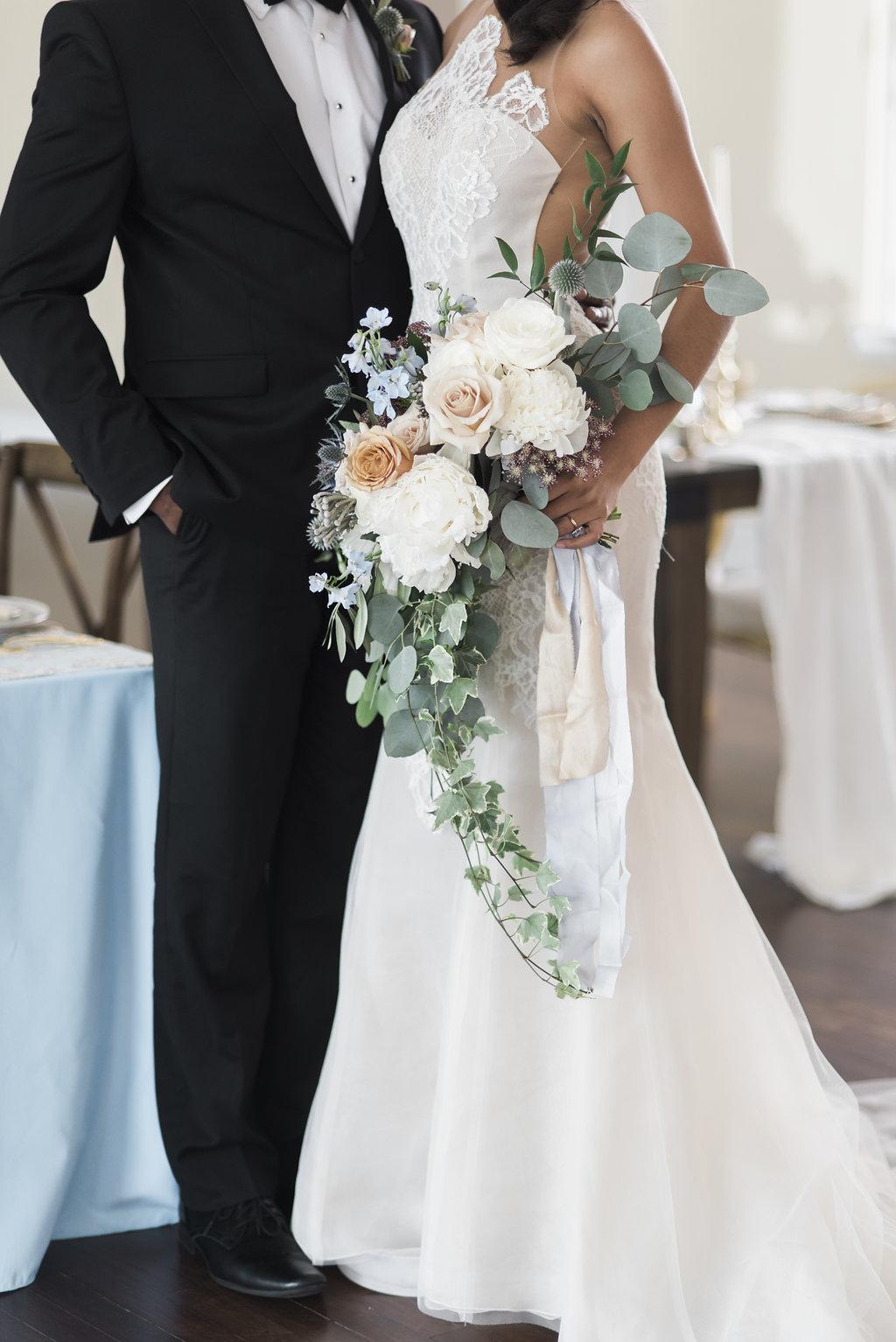 Cream and Beige Wedding Bouquet