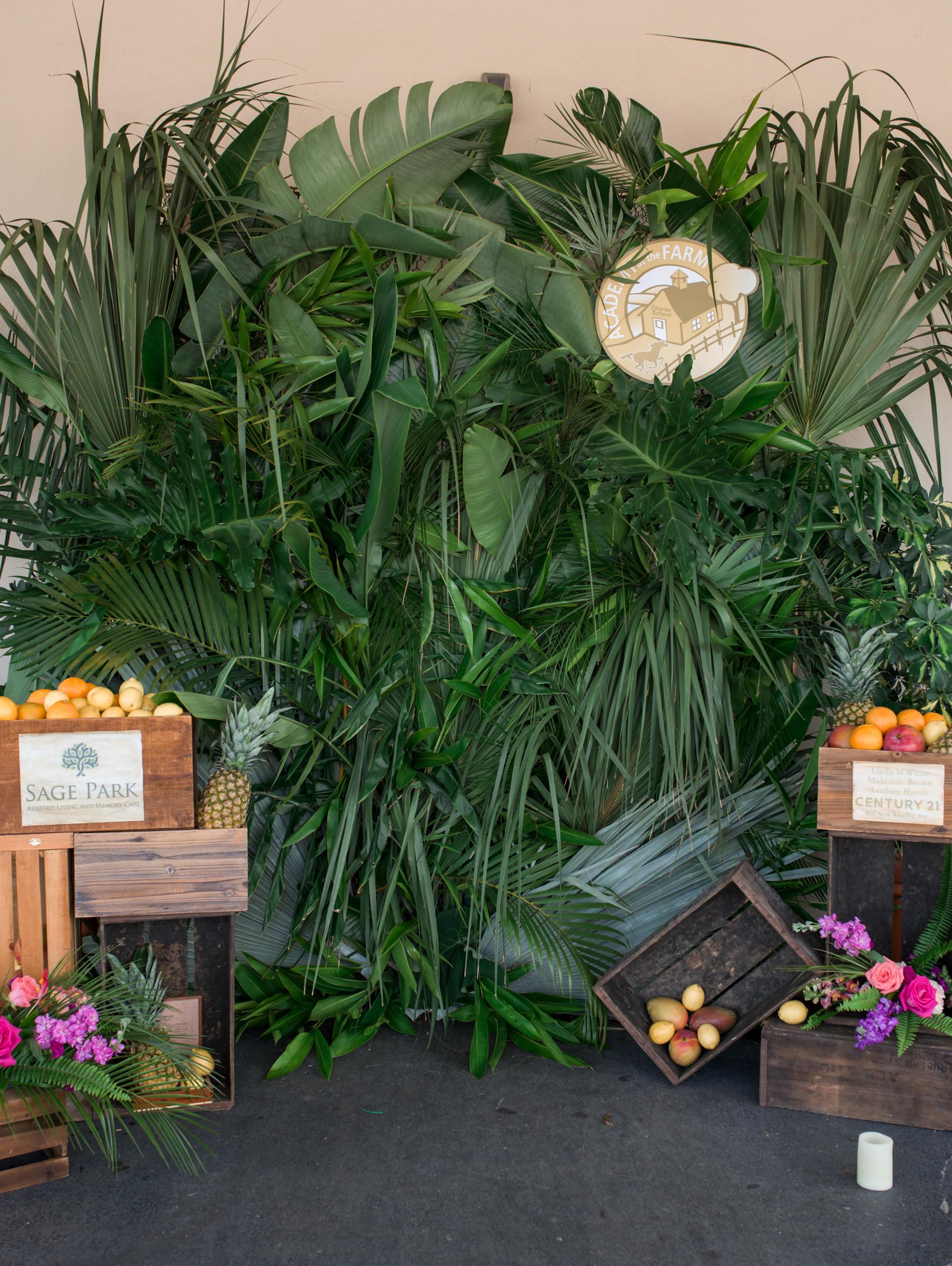 Palm Greenery Wall Backdrop
