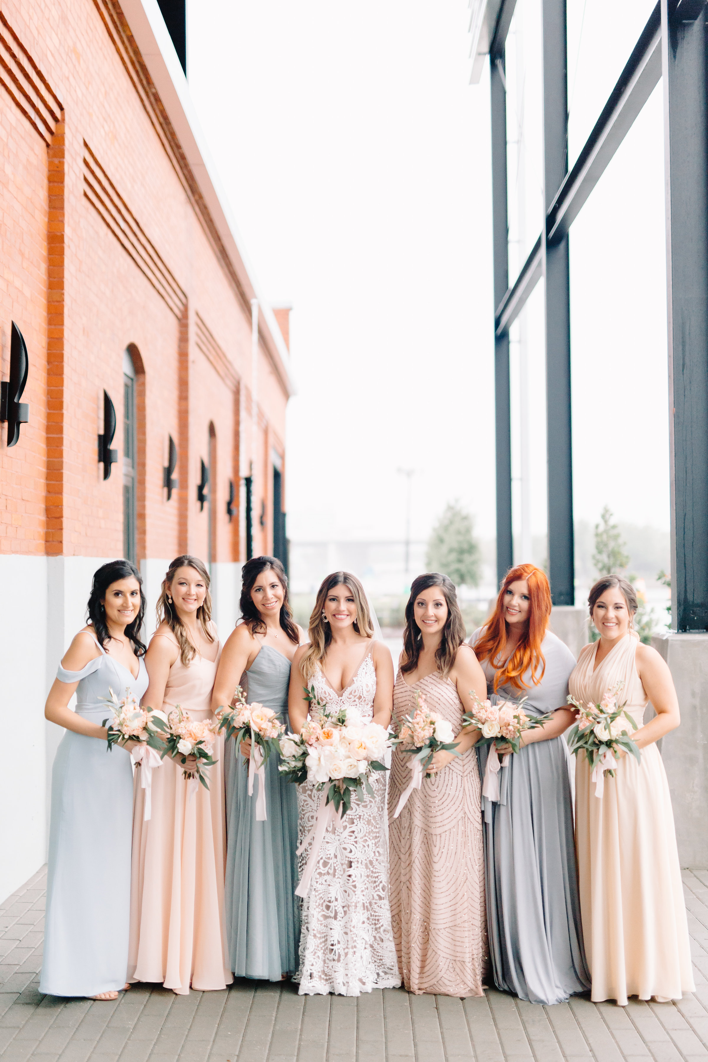 Industrial Peach and Blue Wedding