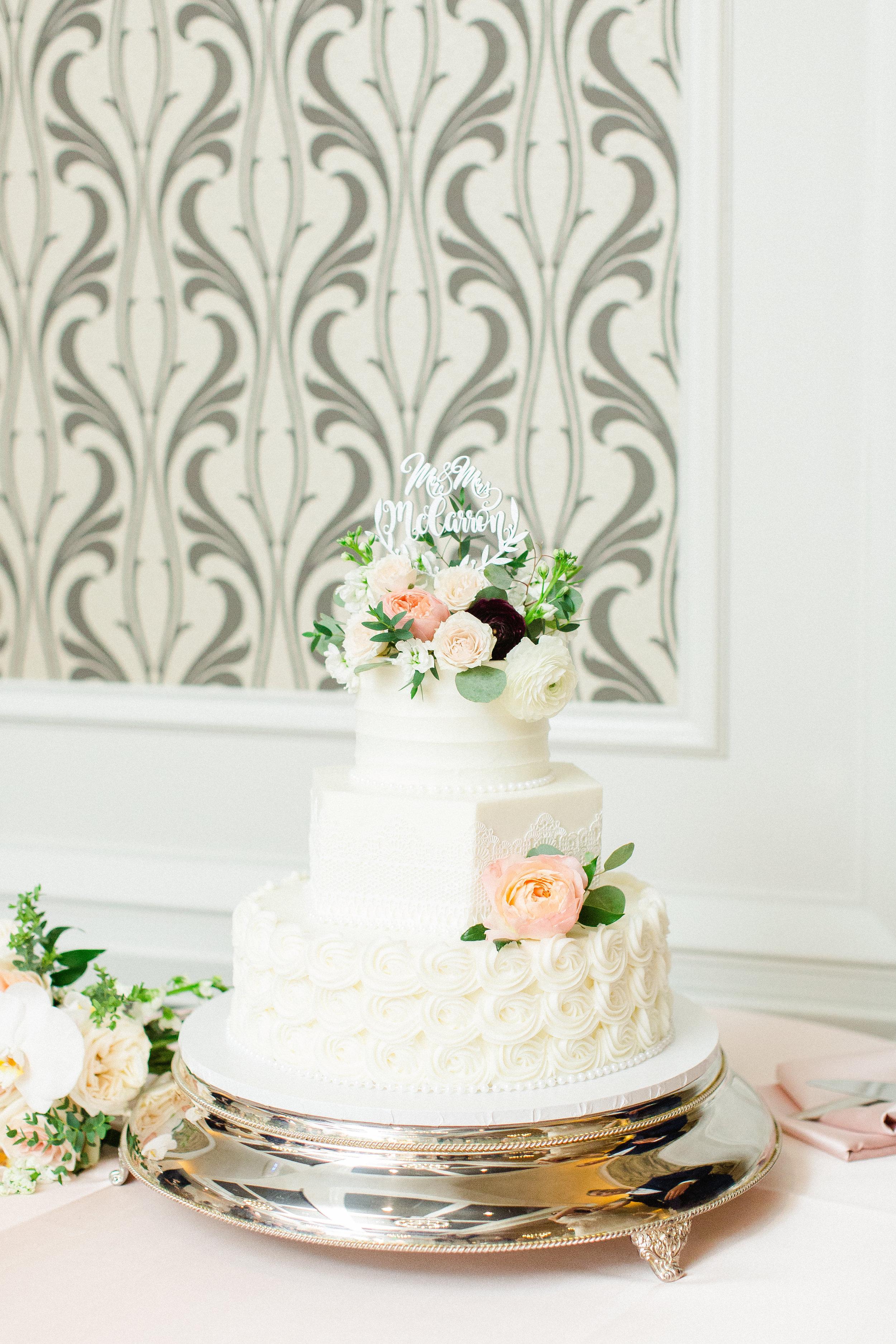 Romantic Peach and Burgundy Wedding